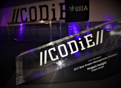 Project Insight Named 2017 SIIA Business Technology CODiE Award Winner